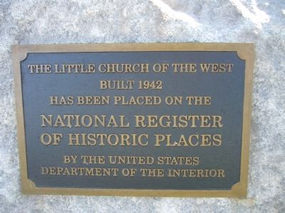 The Little Church of the West Marker image. Click for full size.