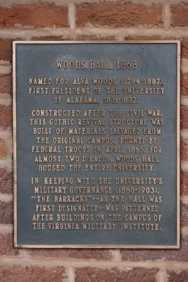 Woods Hall, 1868 Marker image. Click for full size.