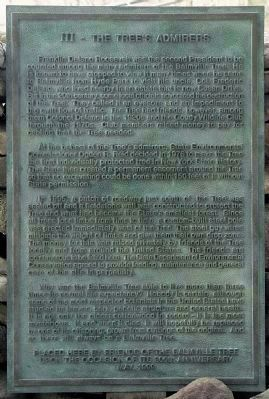 Plaque: III — The Tree's Admirers image. Click for full size.