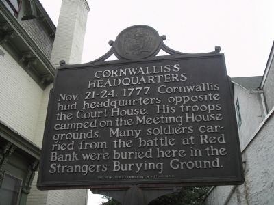 Cornwallis's Headquarters Marker image. Click for full size.
