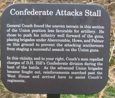 Confederate Attacks Stall Marker image. Click for full size.