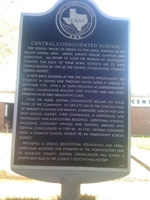 Central Consolidated School Marker image. Click for full size.