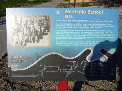 Westside School Marker image. Click for full size.