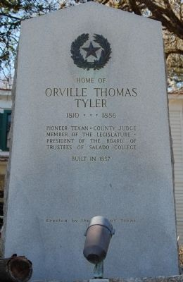 Home of Orville Thomas Tyler Marker image. Click for full size.