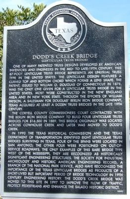 Dodd's Creek Bridge Marker image. Click for full size.