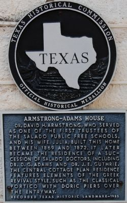 Armstrong-Adams House Marker image. Click for full size.