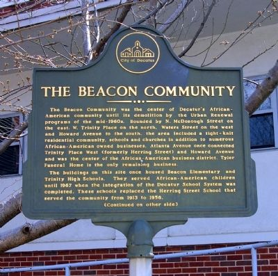 The Beacon Community Marker -- Side 1 image. Click for full size.