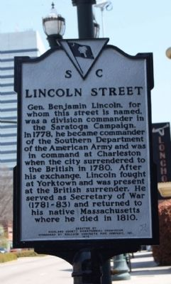 Lincoln Street Marker image. Click for full size.