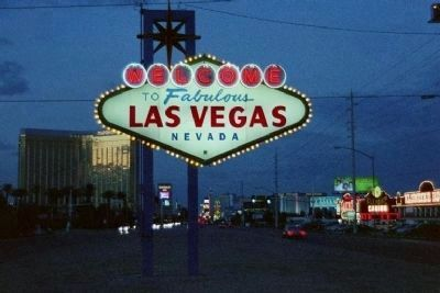 The Welcome To Las Vegas Sign , at dusk image. Click for full size.