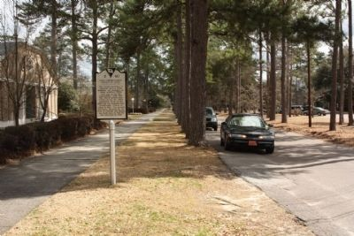 First Presbyterian Church of Aiken Marker, looking east along Barnwell Avenue image. Click for full size.