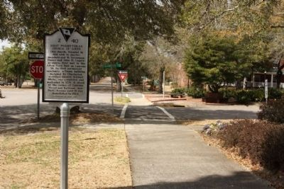 First Presbyterian Church of Aiken Marker, looking west along Barnwell Avenue image. Click for full size.