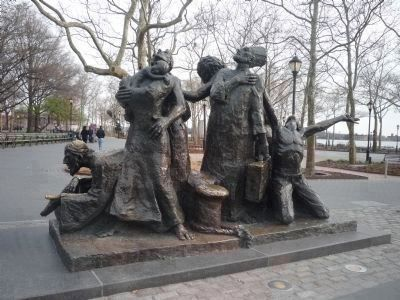 The Immigrants Memorial image. Click for full size.