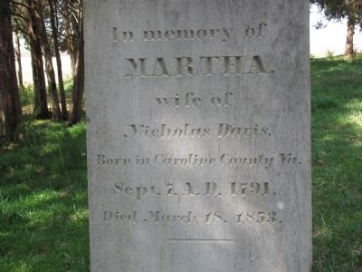 Martha Davis Burial Marker image. Click for full size.