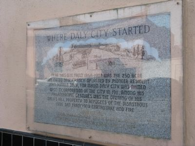 Where Daly City Started Marker image. Click for full size.