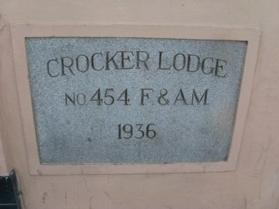 Crocker Lodge No. 454 F & A.M. - 1936 image. Click for full size.