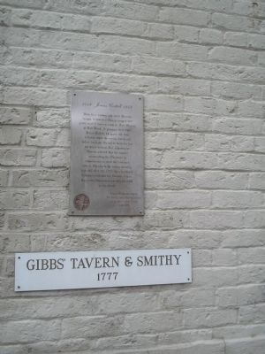 Marker on Gibbs' Tavern & Smithy image. Click for full size.