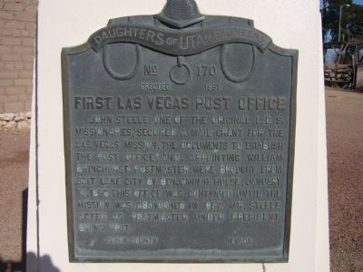 First Las Vegas Post Office Marker image. Click for full size.