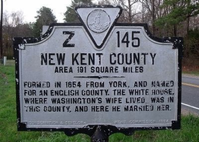 New Kent County Marker (obverse) image. Click for full size.