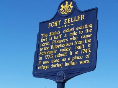 Fort Zeller Marker image. Click for full size.