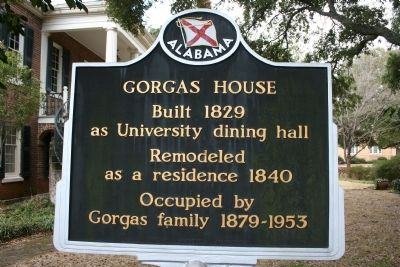Gorgas House Marker image. Click for full size.