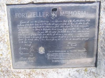 Fort Zeller Memorial image. Click for full size.