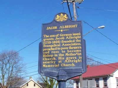 Jacob Albright Marker image. Click for full size.