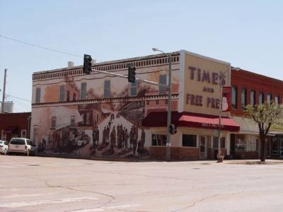 Kingfisher, Oklahoma Mural image. Click for full size.