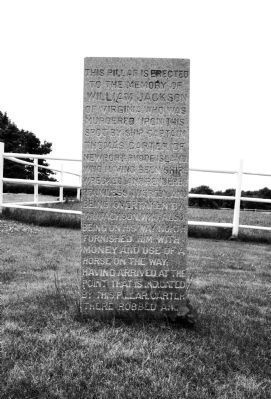 Carter Jackson Monument Marker - East Side image. Click for full size.