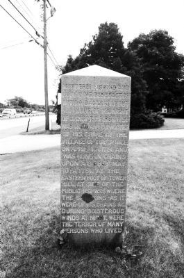 Carter Jackson Monument Marker - North Side image. Click for full size.