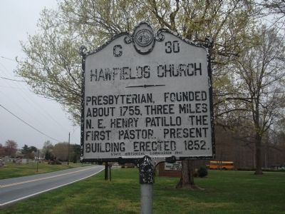 Hawfields Church Marker image. Click for full size.