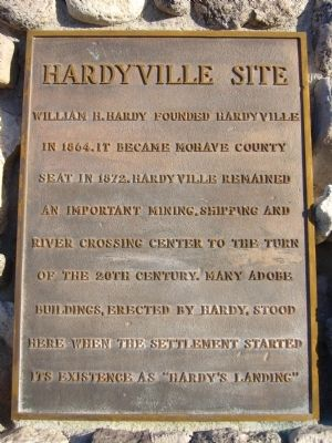 Hardyville Site Marker image. Click for full size.