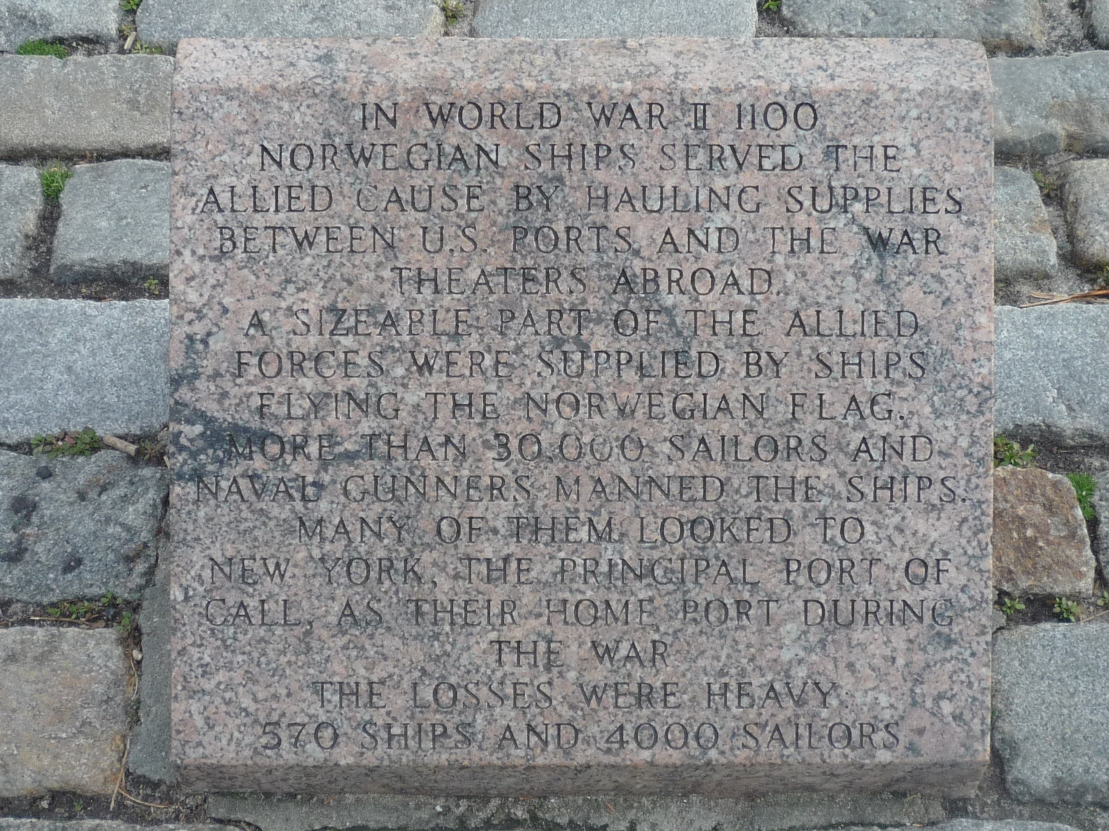 Norwegian Maritime Memorial Marker