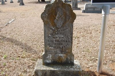 Capt. Milton Wesley Damron Headstone and Marker image. Click for full size.