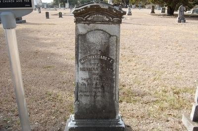 Margaret Aiken Gravestone and marker image. Click for full size.