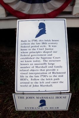 The John Marshall House Marker image. Click for full size.