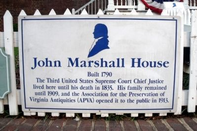 John Marshall House Marker image. Click for full size.