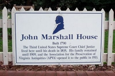 John Marshall House Marker (duplicate) image. Click for full size.