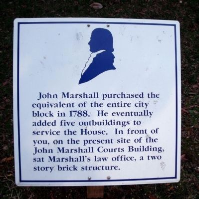 John Marshall House (west side) image. Click for full size.