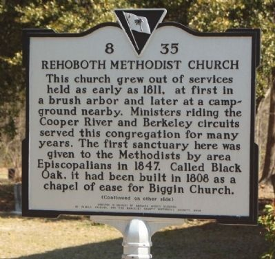 Rehoboth Methodist Church Marker image. Click for full size.