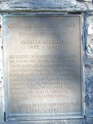 Charles Metcalfe Park Marker image. Click for full size.
