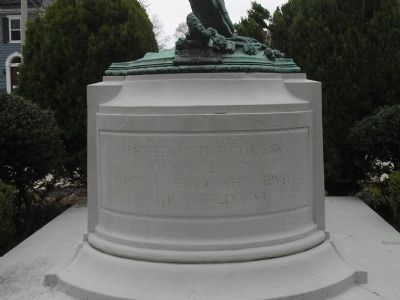 Inscription on Rear of Monument image. Click for full size.