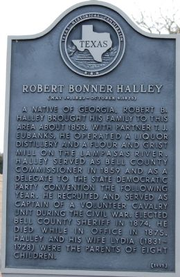 Robert Bonner Halley Marker image. Click for full size.
