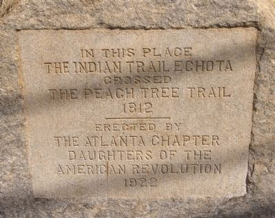 The Indian Trail Echota Marker image. Click for full size.