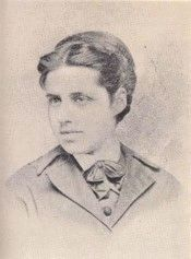 """Emma Lazarus in bowtie outfit."" <http://jwa.org/node/8147> (April 1, 2010). image. Click for full size."