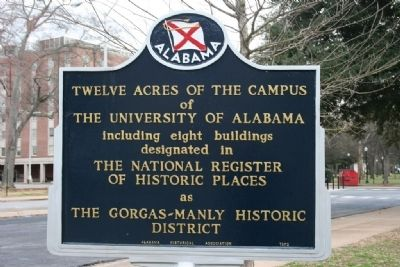 The Gorgas-Manly Historic District Marker Side B image. Click for full size.