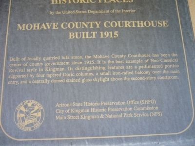 Mohave County Courthouse Marker image. Click for full size.