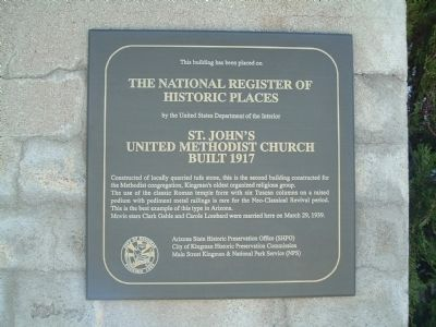 St. John's United Methodist Church Marker image. Click for full size.