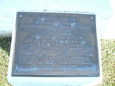 Mohave Center Plaza of Valor Marker image. Click for full size.