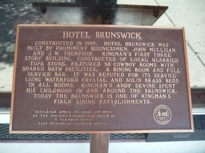 Hotel Brunswick Marker image. Click for full size.