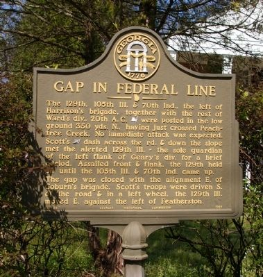 Gap in Federal Line Marker image. Click for full size.